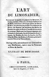 "Buchtitel ""L'ART DU LIMONADIER"""